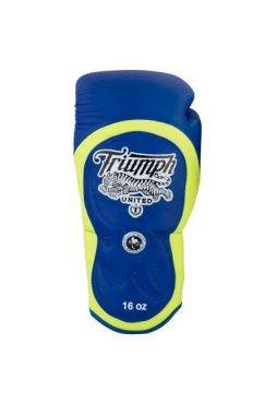 Боксерские перчатки TRIUMPH UNITED Series Pro Muay Thai Blue