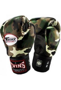 Перчатки для бокса Twins FBGV-JG камо-зеленый