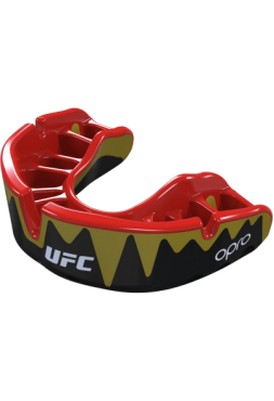 Капа UFC Opro Platinum Level Fangz Black/Gold
