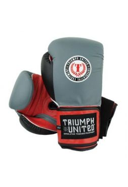 Боксерские перчатки TRIUMPH UNITED Death Adder Velcro Sparring Grey