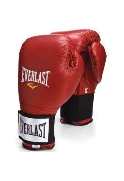 Боксерские перчатки Everlast на липучке Red