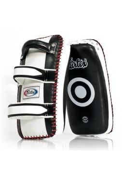 Тайпэды Fairtex Curved Kick Pads KPLC2 Black/White