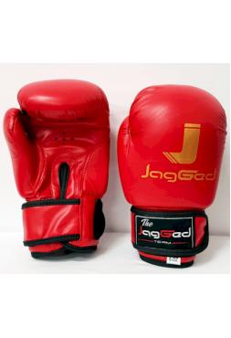 Детские боксерские перчатки JagGed красные (кожзам)