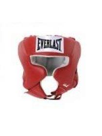 Шлем боксерский Everlast USA Boxing с защитой щек красный